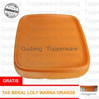 Tupperware Lolly Tup Gliter - Orange + Gratis Tas Bekal