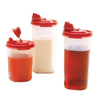 Tupperware Stor N Pour 3pcs - Merah