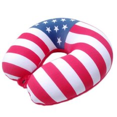 U Shape Travel Pillow Car Flight Headrest Neck Pillow (Intl)