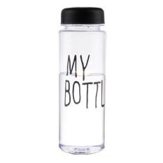 Universal Botol Minum Plastik Bening Juice Lemon My Bottle 500ml - Black