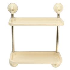 Wall Mounted Suction Cup Kitchen Bathroom Storage Shelf Rack Holder Organiser - Intl