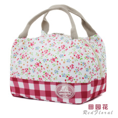 Waterproof Canvas Bag Lunch Bag Portable Lunch Box With A Meal Packed Lunch And Thickened Small Bag Size - Intl