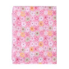 Wholesale Series 7 PCS Pre-Cut Plain Cotton Quilt Cloths Fabrics For Sewing-pink