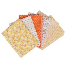 Wholesale Series 7 PCS Pre-Cut Plain Cotton Quilt Cloths Fabrics For Sewing-YELLOW