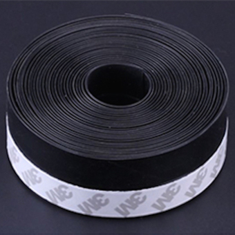 Window Door Seals Weather Strip Door Threshold Bottom Sweep DraftStopper 45 X 3000mm Black - intl