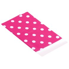 "WiseBuy Rose Red Polka Dot Plastic Table Cover Disposable 70 x 42"" Disposable Tablecloth (Intl)"