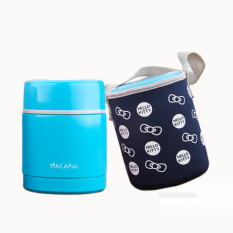 With Cloth Bag.Food Storage Cup.Lunch Box.Dinner Pail.Thermal Insulation Bento Box.Snack Picnic Box.Fresh Keeping Storage Box.Vegeable & Fruit Box.Home Living & Outdoor Lunch Box. (Blue) - Intl