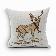 Yazilind Sample Deer Pattern Decorative Pillowcase Room Sofa Home 45*45CM / 17.55*17.55 Inch