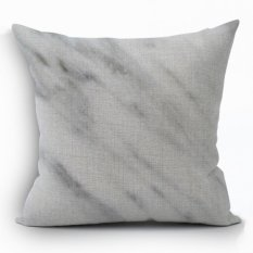 Yazilind Sample Gray Decorative Pillowcase Room Sofa Home 45*45CM / 17.55*17.55 Inch (Intl)