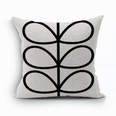 Yazilind Sample Leaves Pattern Decorative White Pillowcase Room Sofa Home 45*45CM / 17.55*17.55 Inch