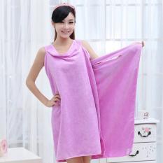 YBC Wearable Body Wrap Towel Super Absorbent Microfiber Bath Beach Towel Purple