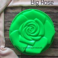 YBS Cetakan Puding/Kue Silikon BIG ROSE