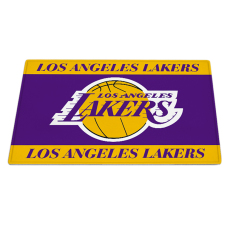 Yika Absorbent Soft Coral Velvet Non-slip Bathroom Floor Mat Rug NBA Los Angeles Lakers (Multicolor)