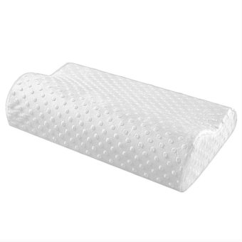 Yika Health Care Sleep Slow Rebound Memory Foam Pillow Cervical (White)