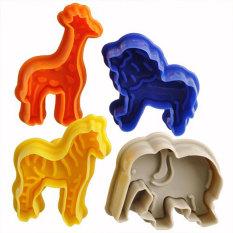 YJJZB Animal Shape Cake Fondant Plunger And Cutter (4pcs, Random Color)