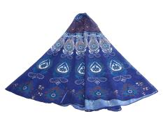 Yooyvso Mandala Beach Chiffon Beach Blanket (Blue)