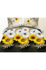 ZHENGQI JustCreat 4 Pcs Sueding 3D Quilt Cover Pillowcases And Bed Linen Set (013)