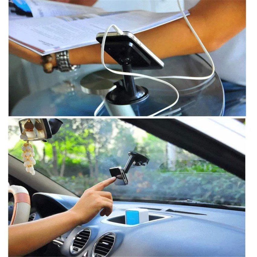 360 Degree Rotating Windshield / Dashboard suction cups Car Mount Phone Holder for Smartphones Mobile Phones-Blue (Intl)