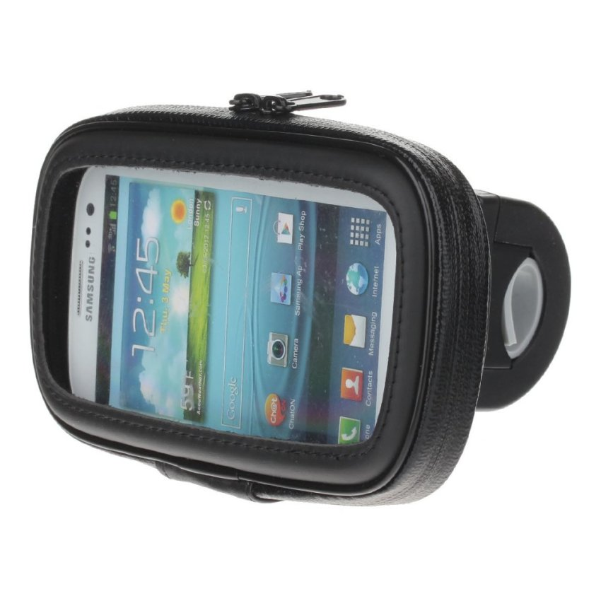 360 Degree Rotation Bracket w/ Waterproof PU Leather Bag for Samsung Galaxy S3 i9300 (Black) (Intl)