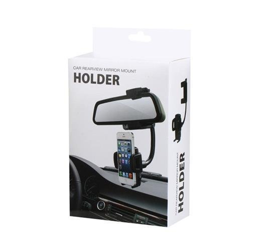 360-Degree Rotation C47+459 Car Rearview Mirror Mount Holder (Black) (Intl)
