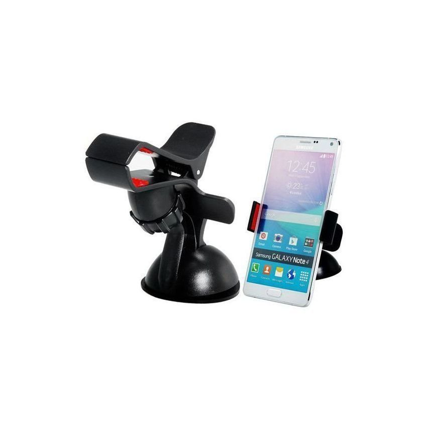 360 Degrees Rotating Car Mount Holder for Mobile Phone GPS Navigation Tablet PC (Black)