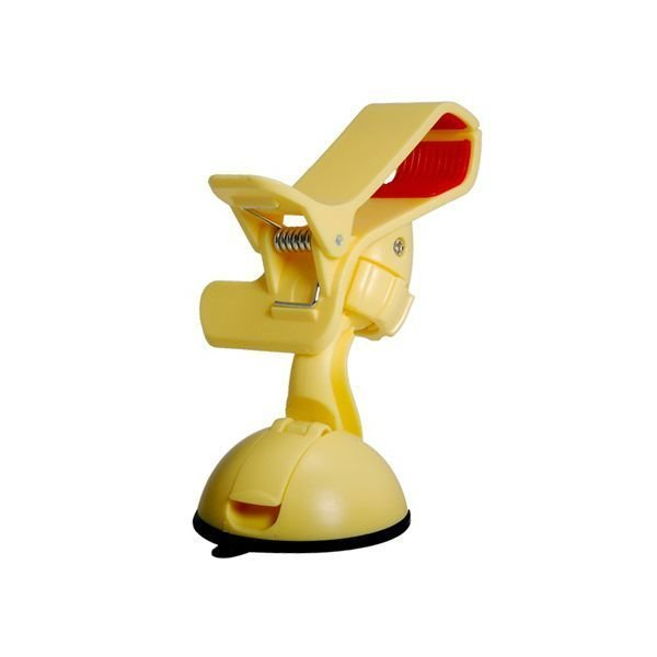 360 Degrees Rotating Car Mount Holder for Mobile Phone GPS Navigation Tablet PC Yellow