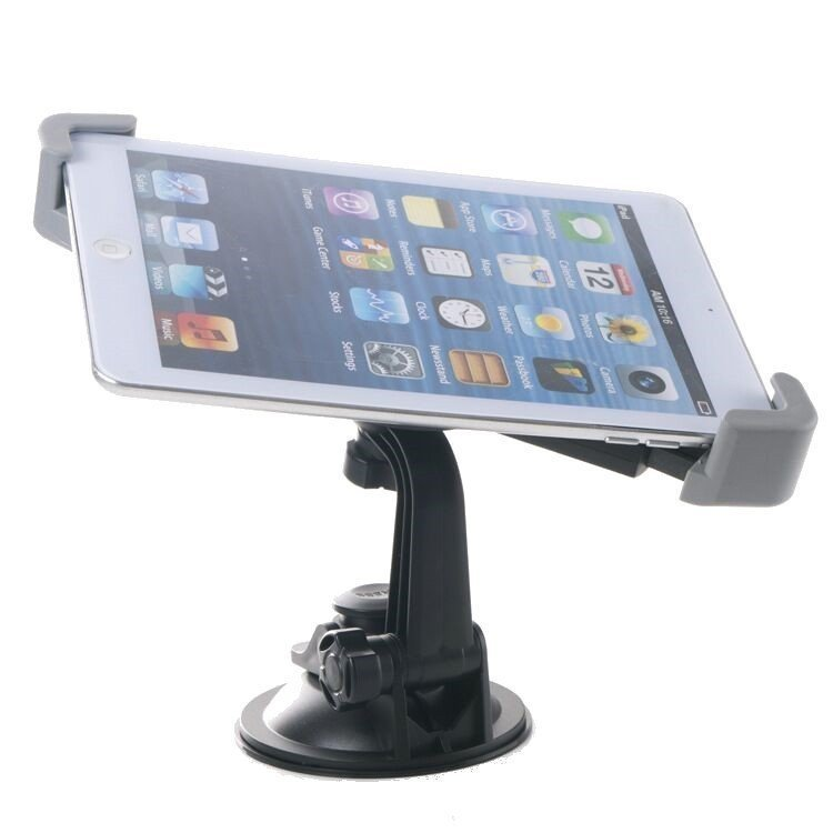 360ﺁ٠Rotatable Windshield Universal Car Window For Tablet iPad Holder Mount (Grey) (Intl)