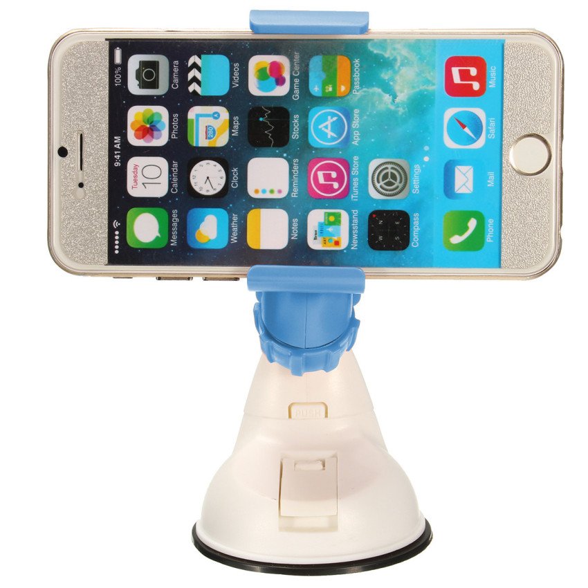 360° Car Windshield Suction Mount Cradle Holder Stand Bracket Clip for Phone GPS (Blue) (Intl)