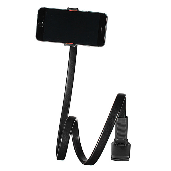 360° Lazy Phone Clip Long Flexible Holder Stand Bracket For iPhone6/6 Black (Intl)