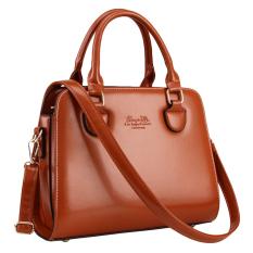 360DSC Women Love Korean Style PU Leather Tote Bag Handbags Shoulder Bag Crossbody Bag (Brown) - INTL
