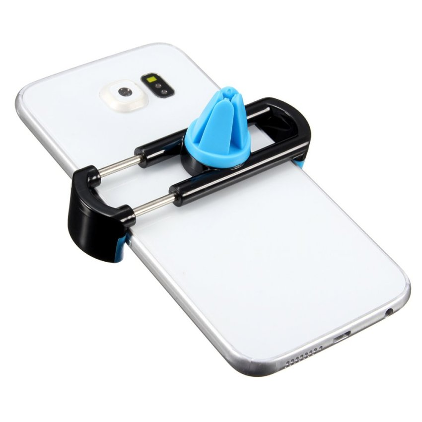 360ᄚ Rotating Universal Car Air Vent Mount Cradle Holder for Mobile Phone GPS (Black+Blue) (Intl) (Intl)