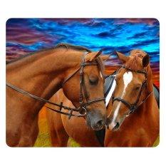 3D Animal Horse Printing Mouse Mat Anti-slip Laptop Gaming Mouse-pad Play Gamer Mat (Intl)