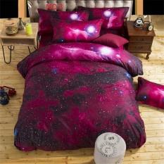 3d Galaxy Bedding Sets 3pcs Duvet Cover Pillow Case Set