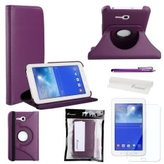 4-in-1 360-degree Rotating Stand PU Flip Case Cover Set for