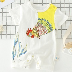 100%Cotton Summer Newborn Girl Boy Baby suits Clothes High Quality Cute Short Sleeve Baby Costumes(Size:44cm) - intl