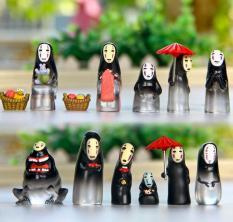 13pcs/lot Spirited Away faceless men micro landscape Hayao Miyazaki's Anime gardening decoration No Face Resin Action Figure - intl