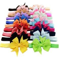 20 buah bayi perempuan bando elastis bando pita rambut aksesori rayon yang