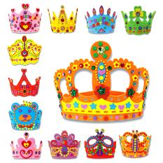3D EVA Crown Kerajinan Buatan Tangan Hadiah Ulang Tahun Topi Mahkota Buatan Sendiri Peralatan Kerajinan Mainan