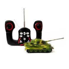 AHS RC Tank King Tiger Skala 1/72 Mainan Remote Control Tank - Hijau