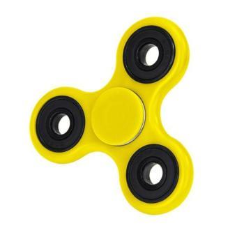 ANGEL - Fidget Spinner Papua Hand Toys Mainan Tri-Spinner EDC Focus Games - Kuning