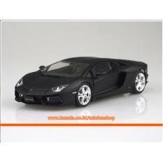AOSHIMA Plastic Model Kit - Pre-Painted SUPER CAR 1/24 LAMBORGHINI AVENTADOR LP700-4 - Matte Black