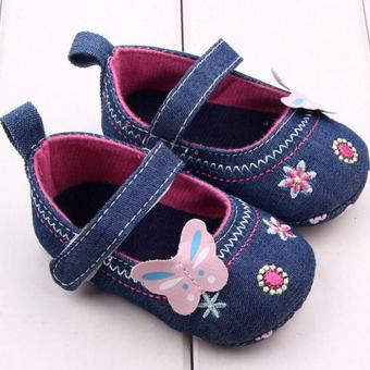 Ava Baby Shoes Butterfly Mary Jane Sepatu Bayi Perempuan Prewalker