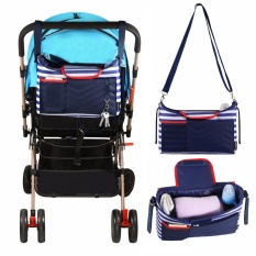 Baby Jogger Stroller Organizer Diaper Bag Large Capacity Universal Fit with Shoulder Strap Cup Holder Removable Diaper Changing Pad - intl