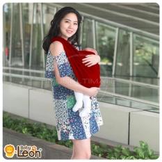 BABY LEON Gendongan Bayi Kaos/Geos/selendang Bayi Praktis BY 44 GB Polos Ukuran M - Maroon