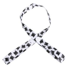 Baby PaciGrip Pacifier Holder Loop Strong Clasp Bat (White + Black) - intl