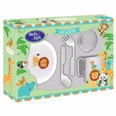 Baby safe Small Feeding set 5 Pcs Perlengkapan Tempat Makan Bayi .