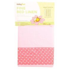 Babybee Fitted Bed Sheet - Pink Polkadot