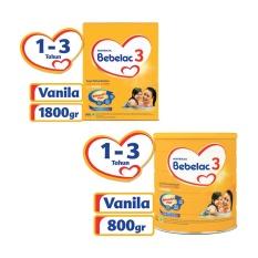 Bebelac 3 Bebenutri Plus Susu Pertumbuhan - Vanila - 800gr + 1800gr - Value Bundle