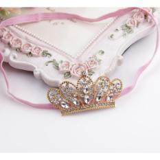Beruang Fashion memancar berlian imitasi Putri Mahkota pesta anak cewek Korea Fashion hiasan kepala band foto alat peraga - Internasional