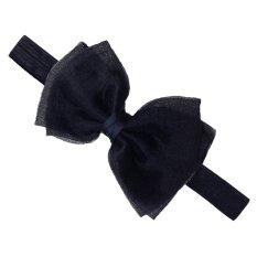 balita anak bayi perempuan lucu bando bunga mutiara imitasi dekorasi aksesoris rambut busur .